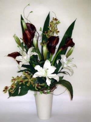 db_green_orchid_red_calla_and_white_lilly